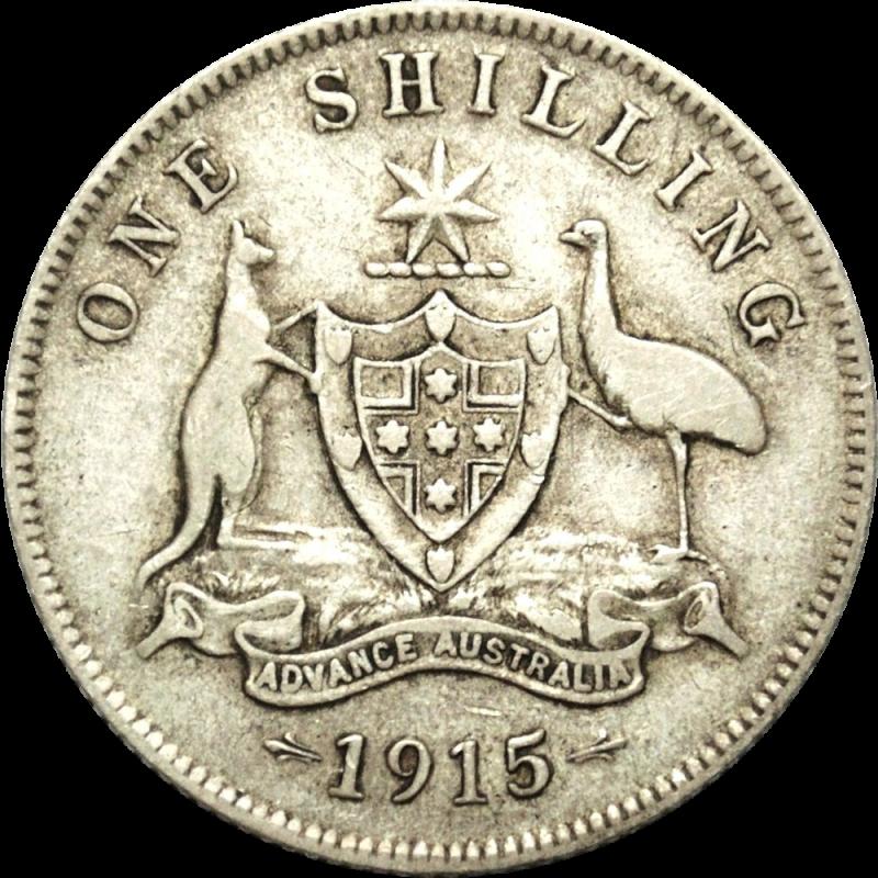 Rare 1915 Australian Shilling