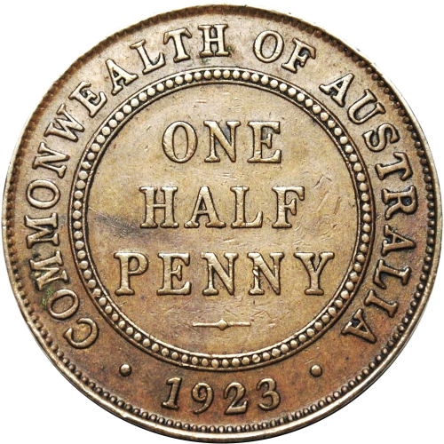 Rare 1923 Australian Halfpenny