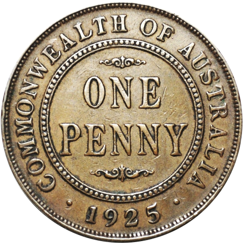 Scarce 1925 Australian Penny
